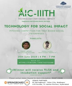 Technology For Social Impact @ 91 Springboard, Madhapur