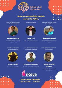 How to successfully switch career to AI/MI? @ iKEVA, Kukatpally, Hyderabad