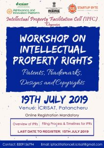 Workshop on Intellectual Property Rights @ ICRISAT