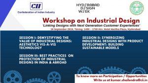 Workshop on Industrial Design @ Hotel Haritha Plaza, Manjira Hall,