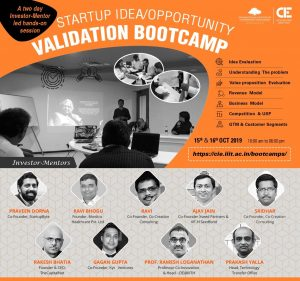 Startup Idea Validation Bootcamp @ CIE @ IIIT Hyderabad